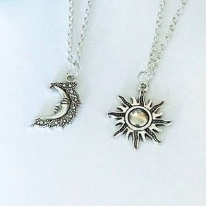 Jewelry - Set of 2 Sun and Moon Necklaces. couple Necklaces.
